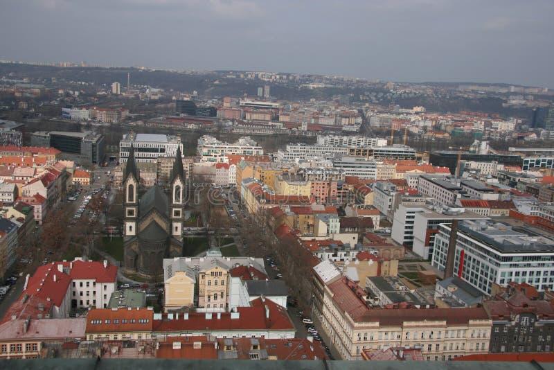 επάνω από την Πράγα στοκ εικόνα με δικαίωμα ελεύθερης χρήσης