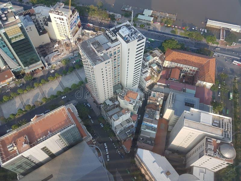 επάνω από την πόλη στοκ φωτογραφία με δικαίωμα ελεύθερης χρήσης