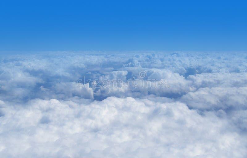 επάνω από την όψη σύννεφων στοκ εικόνες με δικαίωμα ελεύθερης χρήσης
