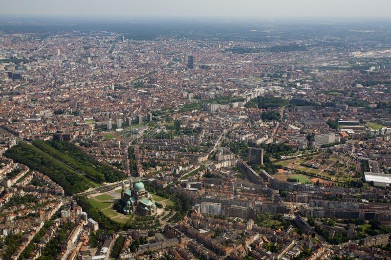 επάνω από τις Βρυξέλλες στοκ φωτογραφίες
