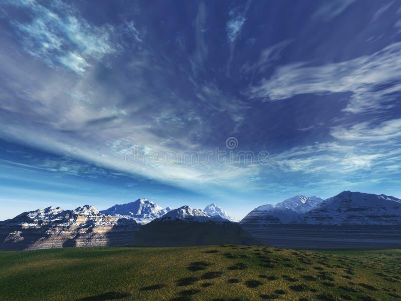 επάνω από τις κορυφές θύελ& στοκ φωτογραφίες