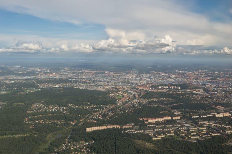επάνω από το Γκέτεμπουργκ στοκ εικόνες