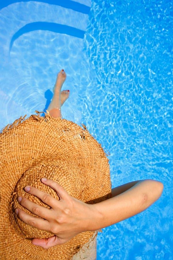 επάνω από το sunbather στοκ φωτογραφία