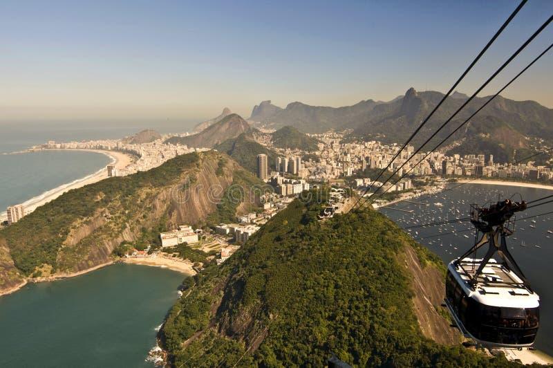 επάνω από de janeiro Ρίο στοκ εικόνα με δικαίωμα ελεύθερης χρήσης