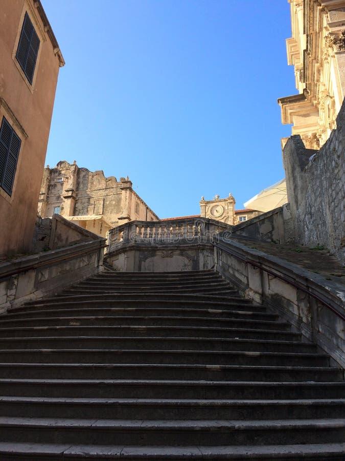 Επάνω σε Crkva Svetog Stjepana, Dubrovnik, Κροατία στοκ εικόνα με δικαίωμα ελεύθερης χρήσης