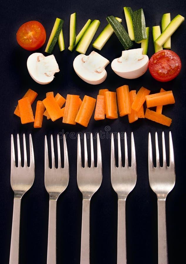 επάνω στα λαχανικά στοκ φωτογραφία