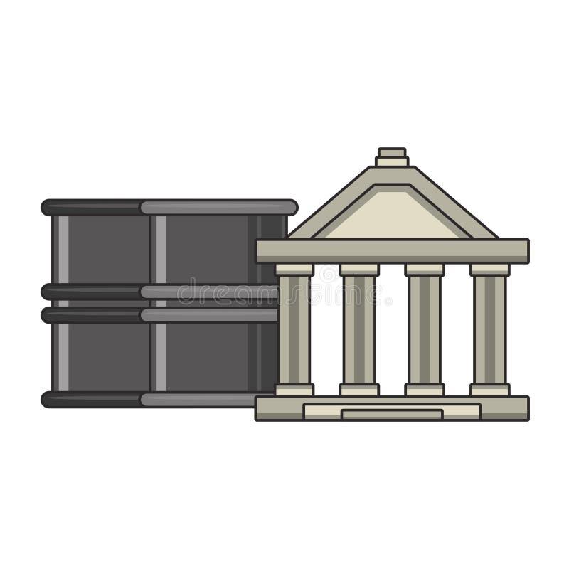 Επένδυση χρηματιστηρίου τράπεζας και χρημάτων απεικόνιση αποθεμάτων