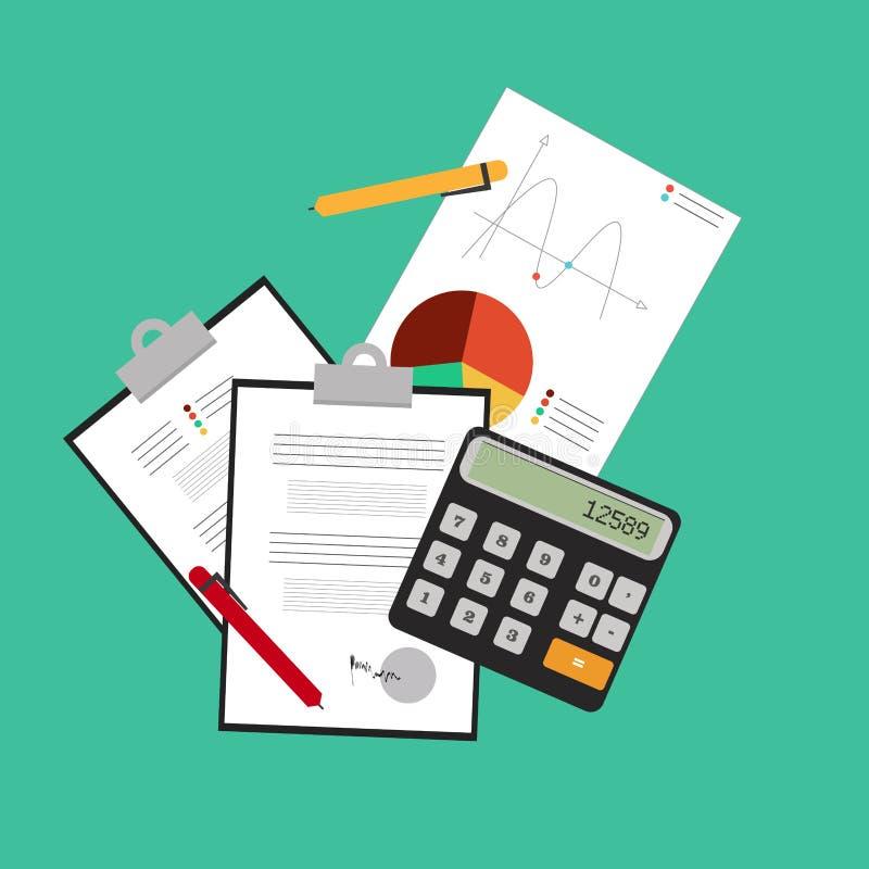 Επένδυση και προσωπική χρηματοδότηση, πίστωση και σύνταξη προϋπολογισμού διανυσματική απεικόνιση