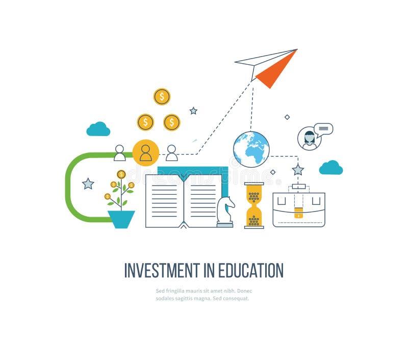 Επένδυση στην εκπαίδευση Ανάπτυξη επιχείρησης απεικόνιση αποθεμάτων