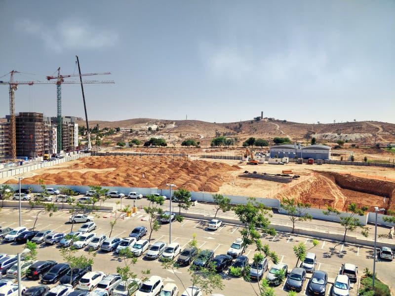 Επίγεια ανασκαφή για το ίδρυμα της διοσκορέας Negev 4 και 5 Gav στοκ φωτογραφίες με δικαίωμα ελεύθερης χρήσης