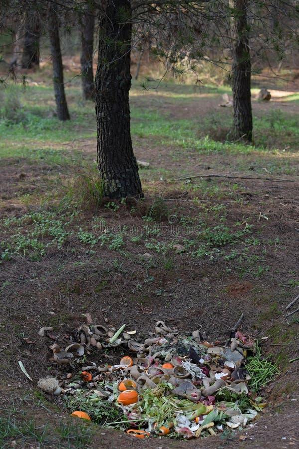 Επίγεια τρύπα λιπάσματος στοκ φωτογραφία με δικαίωμα ελεύθερης χρήσης