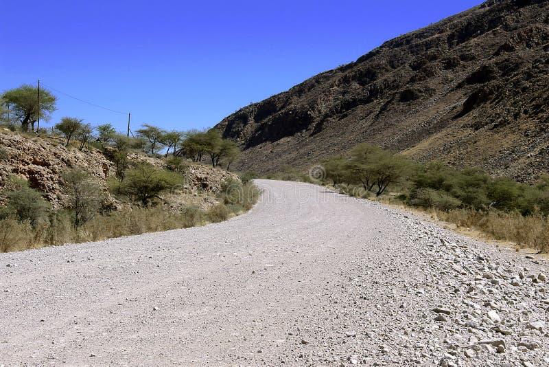 Επίγειος δρόμος μέσω της ερήμου στοκ εικόνα με δικαίωμα ελεύθερης χρήσης