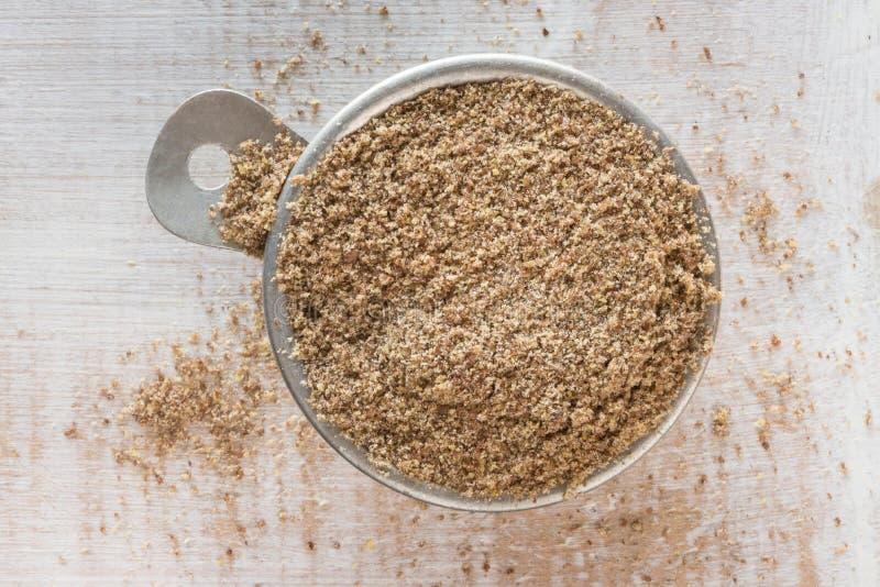 Επίγειο flaxseed στοκ εικόνες