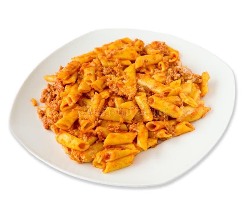 επίγειο macaroni βόειου κρέατος στοκ εικόνα