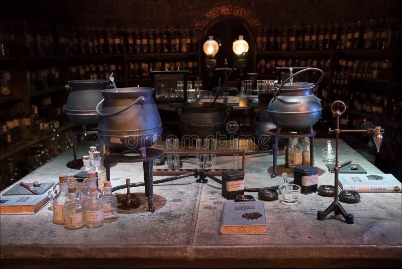 Επίδειξη δωματίων φίλτρων του Harry Potter στοκ εικόνες