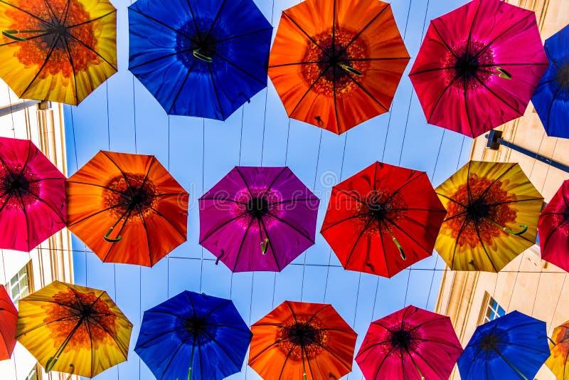 Επίδειξη ομπρελών λουτρών, UK στοκ εικόνες