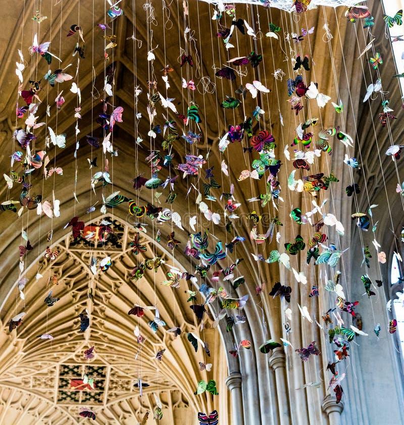 Επίδειξη πεταλούδων αβαείων λουτρών, UK στοκ φωτογραφία με δικαίωμα ελεύθερης χρήσης