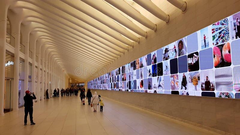Επίδειξη Oculus, πόλη της Νέας Υόρκης, Νέα Υόρκη στοκ εικόνα