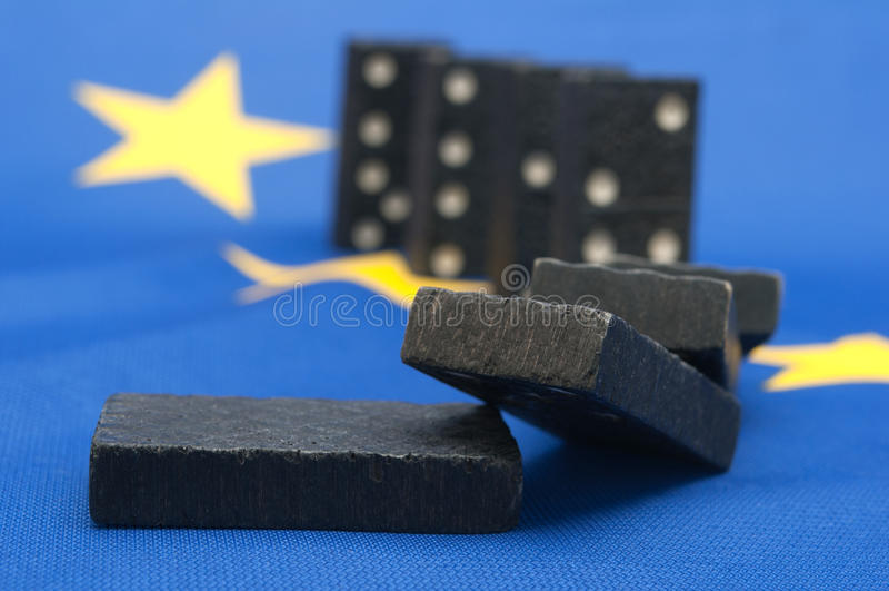 επίδραση Ευρώπη ντόμινο κρίσης οικονομική στοκ φωτογραφίες