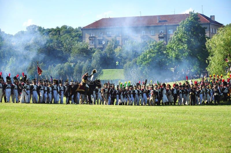 επίθεση στρατού napoleon στοκ φωτογραφίες