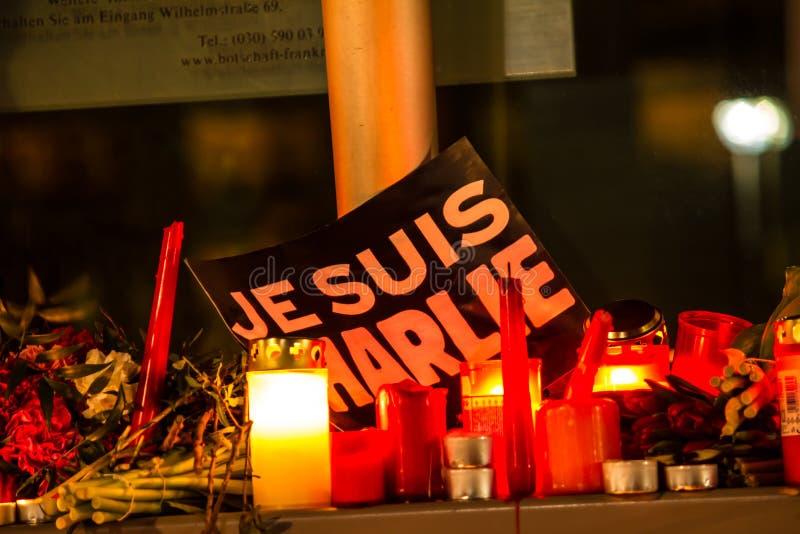 Επίθεση τρομοκρατίας του Charlie Hebdo στοκ φωτογραφία με δικαίωμα ελεύθερης χρήσης