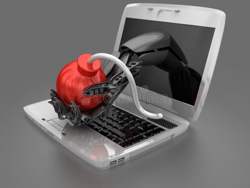 Επίθεση Cyber στοκ εικόνες με δικαίωμα ελεύθερης χρήσης