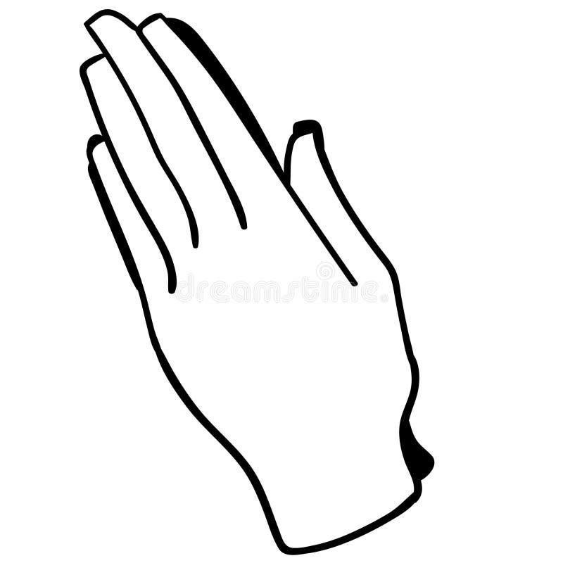Επίκληση της διανυσματικής απεικόνισης χεριών από τα crafteroks ελεύθερη απεικόνιση δικαιώματος