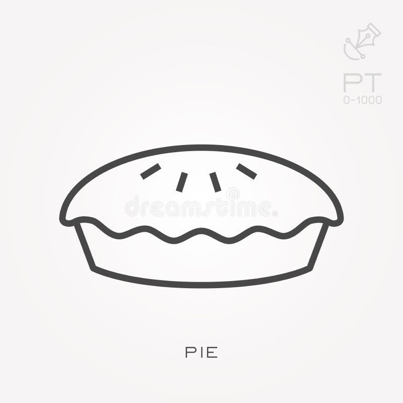 Επίπεδα διανυσματικά εικονίδια με την πίτα διανυσματική απεικόνιση