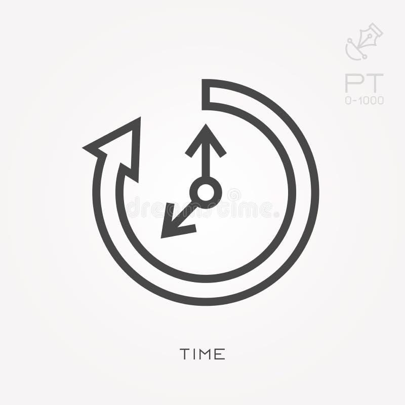 Επίπεδα διανυσματικά εικονίδια με το χρόνο ελεύθερη απεικόνιση δικαιώματος