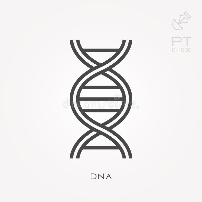 Επίπεδα διανυσματικά εικονίδια με το DNA διανυσματική απεικόνιση