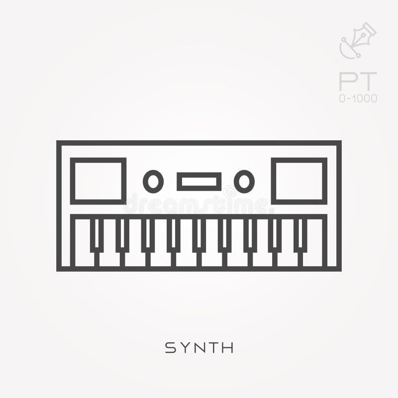 Επίπεδα διανυσματικά εικονίδια με το synth απεικόνιση αποθεμάτων