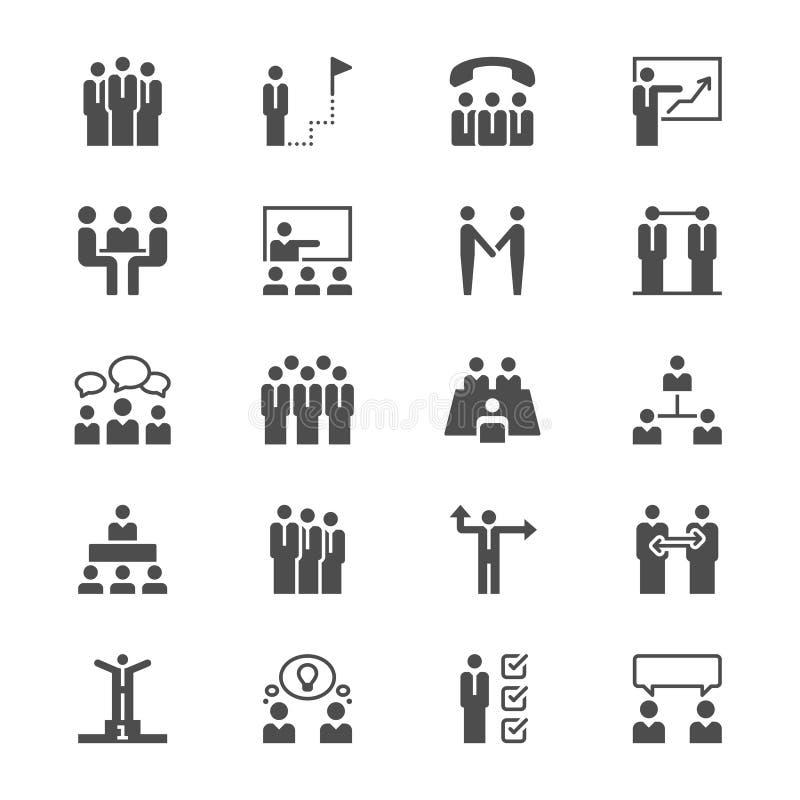 Επίπεδα εικονίδια επιχειρηματιών απεικόνιση αποθεμάτων