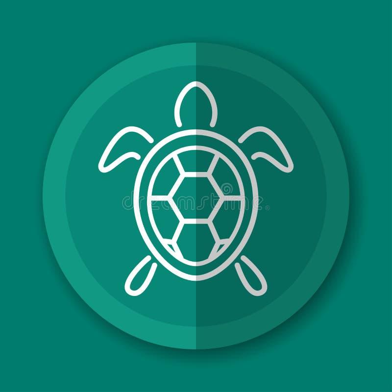 Επίπεδη έννοια σχεδίου εικονιδίων χελωνών διανυσματική απεικόνιση