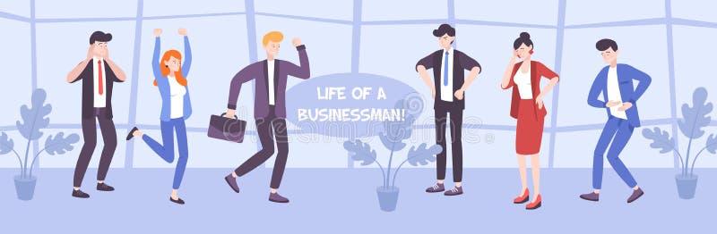 Επίπεδη απεικόνιση επιχειρηματιών απεικόνιση αποθεμάτων