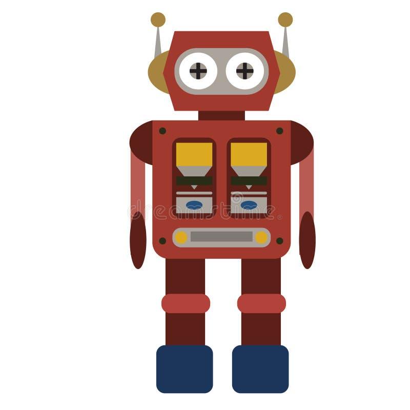 Επίπεδη απεικόνιση ρομπότ διανυσματική απεικόνιση