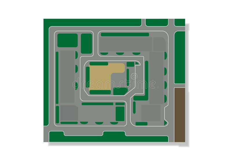 Επίπεδη απεικόνιση του σχεδίου για το κατοικημένο τέταρτο απεικόνιση αποθεμάτων