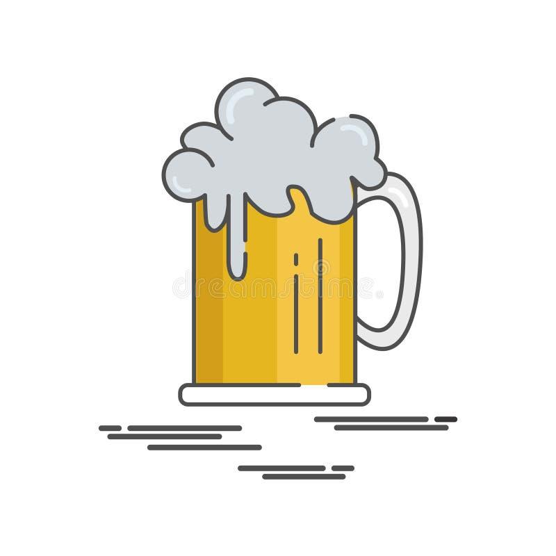 Επίπεδη εικονιδίων ημέρα μπύρας απεικόνισης ευτυχής διεθνής στοκ φωτογραφίες