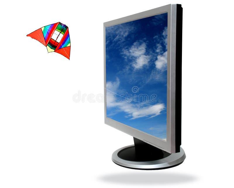 επίπεδη οθόνη υπολογισ&tau στοκ φωτογραφίες