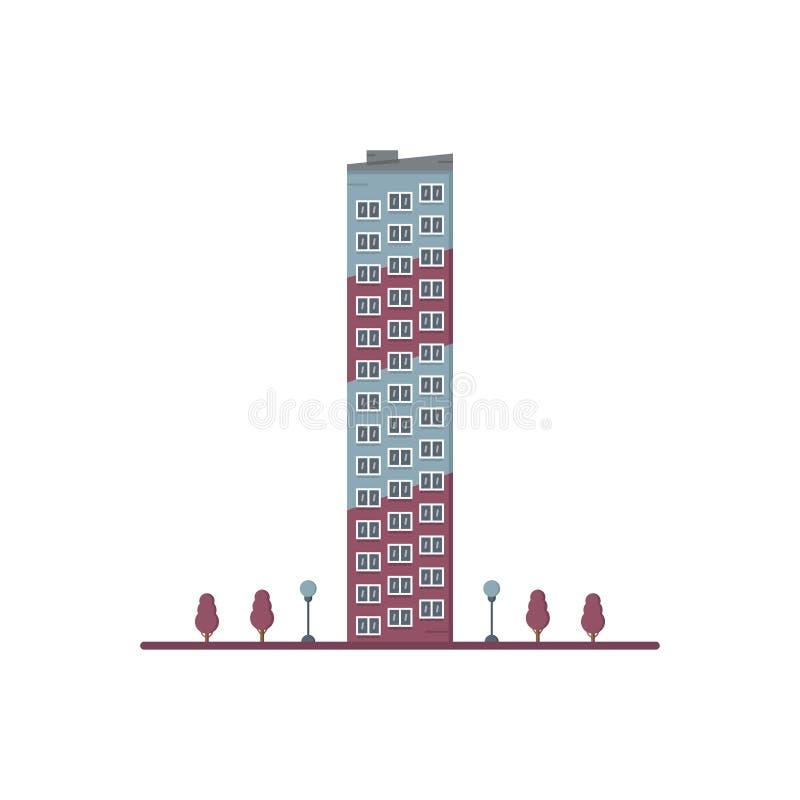 Επίπεδη πολυκατοικία 14 πατωμάτων ελεύθερη απεικόνιση δικαιώματος