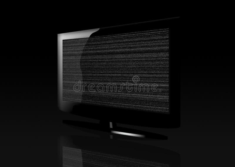 επίπεδη στιλπνή στατική TV ο&th ελεύθερη απεικόνιση δικαιώματος