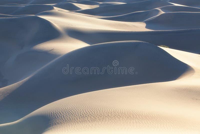 Επίπεδοι αμμόλοφοι Mesquite, εθνικό πάρκο κοιλάδων θανάτου, Καλιφόρνια, ΗΠΑ στοκ εικόνα με δικαίωμα ελεύθερης χρήσης
