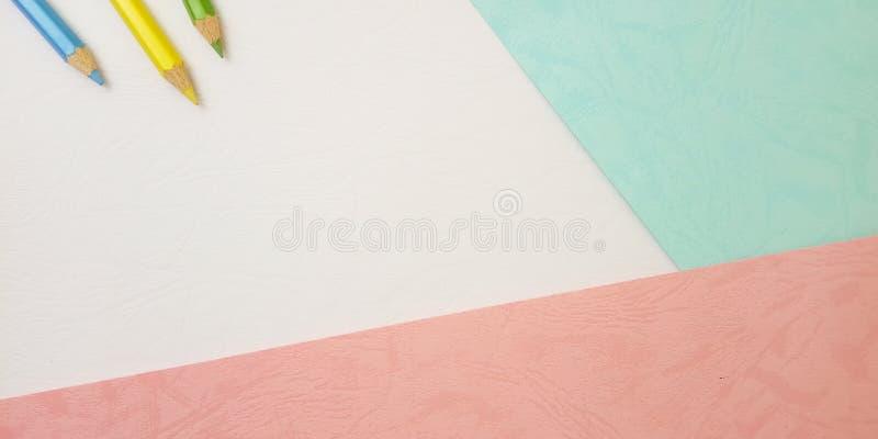 Επίπεδος βάλτε, άσπρο κενό πρότυπο φωτογραφιών για το σχέδιο στοιχείων υποβάθρου για το μήνυμα, απόσπασμα, τοποθέτηση κειμένων πλ στοκ εικόνες