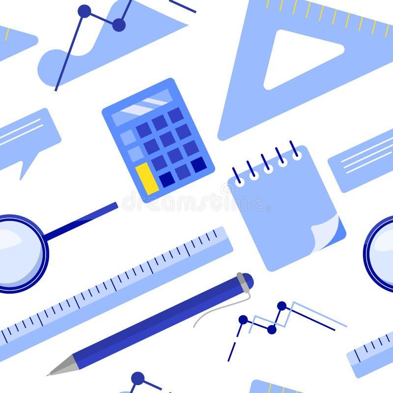 Επίπεδος βάλτε διανυσματική απεικόνιση επιχειρησιακών την άνευ ραφής σχεδίων διανυσματική απεικόνιση