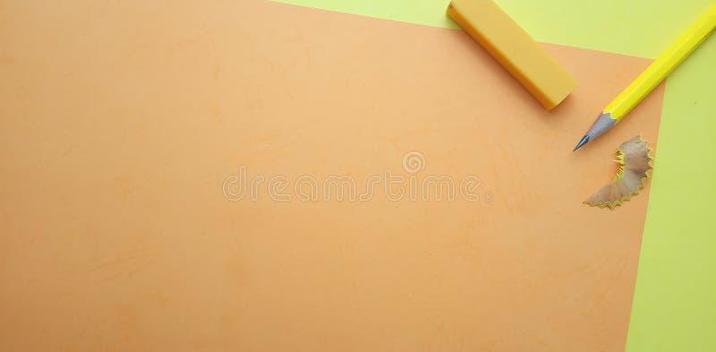 Επίπεδος βάλτε, κίτρινο και πορτοκαλί κενό πρότυπο φωτογραφιών για το σχέδιο στοιχείων υποβάθρου για το μήνυμα, απόσπασμα, τοποθέ στοκ εικόνες