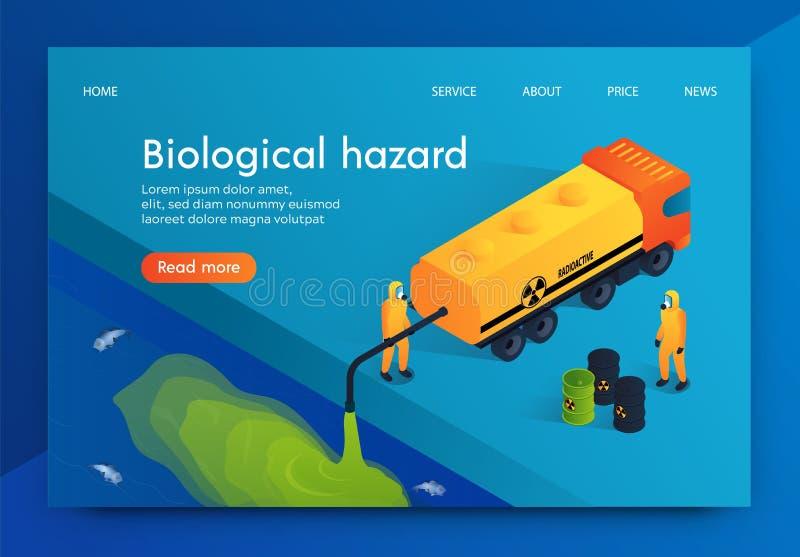 Επίπεδος βιολογικός κίνδυνος ανθρωπότητας απεικόνισης διανυσματική απεικόνιση