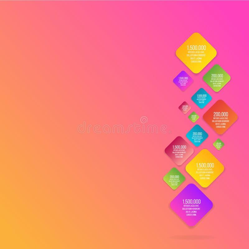 Επίπεδος διανυσματικός ρόμβος πληροφορία-γραφικός απεικόνιση αποθεμάτων