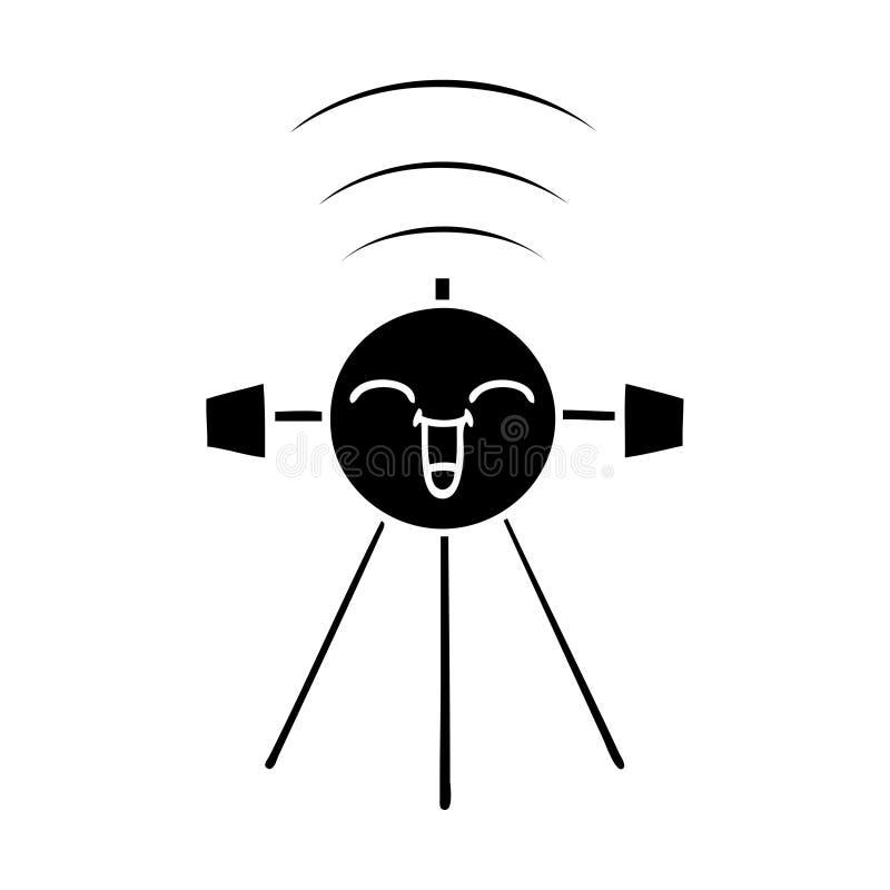 επίπεδος δορυφόρος συμβόλων απεικόνιση αποθεμάτων