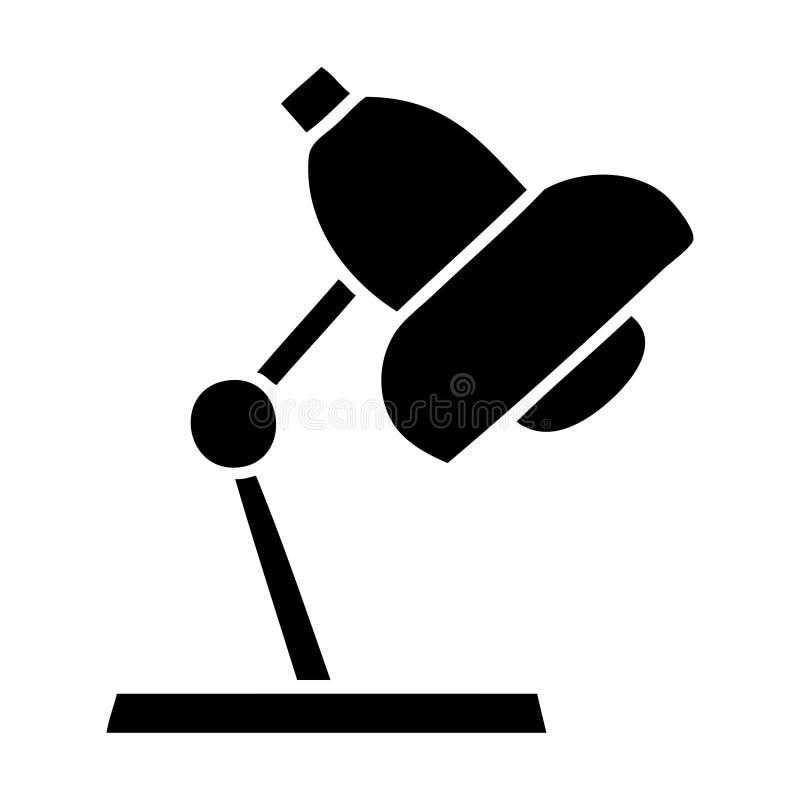 επίπεδος επιτραπέζιος λαμπτήρας συμβόλων απεικόνιση αποθεμάτων