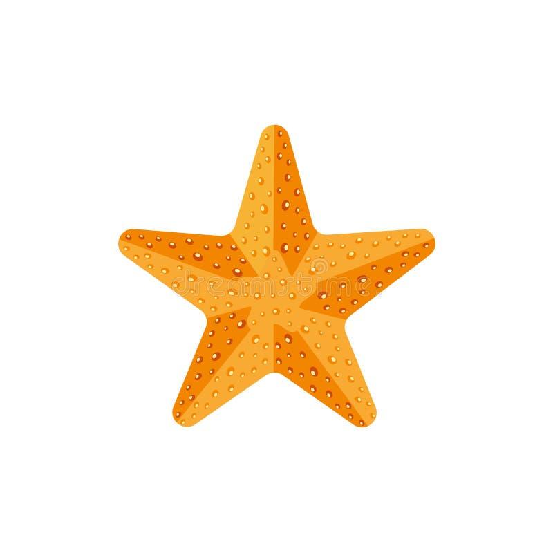 Επίπεδος κατασκευασμένος αστερίας, εικονίδιο ψαριών αστεριών, σύμβολο απεικόνιση αποθεμάτων