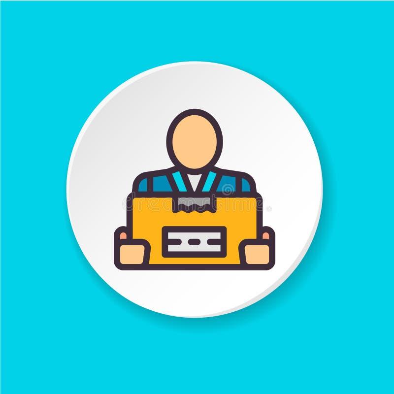 Επίπεδος φορτωτής εικονιδίων Κουμπί για τον Ιστό ή κινητό app απεικόνιση αποθεμάτων
